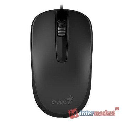 Мышь 31010010400 Genius Mouse DX-120 ( Cable, Optical, 1000 DPI, 3bts, USB ) Black