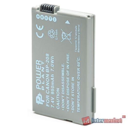 Аккумулятор PowerPlant Canon BP-208 950mAh
