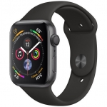 Часы Apple Watch Series-4, 44mm Space Grey Aluminium Case with Black Sport Band MU6D2
