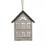 Декор Домик серый 7x4x10cm