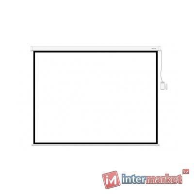 Экран моторизированный, Deluxe, DLS-E203x153, Настенный/потолочный, Рабочая поверхность 195х145 см, 4:3, Matt white, Чёрный