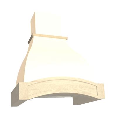 Вытяжка ELIKOR Аркада 60П-650 белый муар/дуб неокрашенный