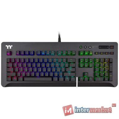 Клавиатура, Thermaltake, Level 20 Black (Silver Switch), GKB-LVG-SSBRRU-01, Игровая, Механические клавиши, Подсветка RGB, USB, Размер: 185,9648243,93 мм., Анг/Рус, Чёрный