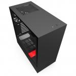 """Компьютерный корпус NZXT H510 Compact ATX/mATX/Mini-ITX 2x3.5"""", 2x2.5"""", 1xUSB 3.1 Gen 2 Type-C, 1xUSB 3.1 Gen 1 Type-A, Черно-красный CA-H510B-BR"""