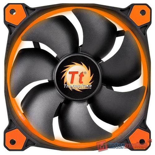 Кулер для кейса Thermaltake Riing 14 LED Orange, Чёрный