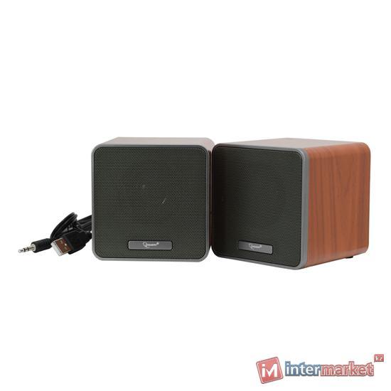 SPK active Gembird SPK-206 (2.0), RMS 2.5Wx2, USB power, Brown