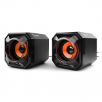 SPK active Gembird SPK-405 (2.0), RMS 2.5Wx2, USB power, Black